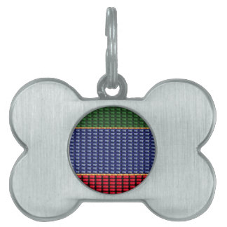 Sparkle Glitter Digital Blue Red Green Button GIFT Pet Name Tags