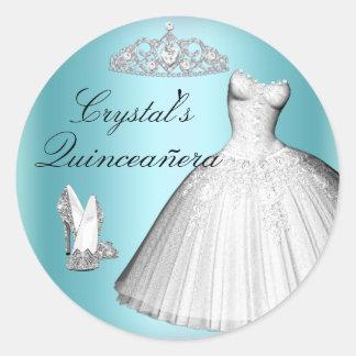 Sparkle Glitter Dress & Heels Quinceanera Sticker
