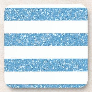 Sparkle Glitter Look Stripes Coasters