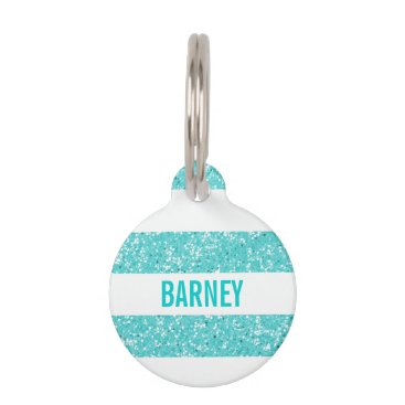 trendythings Sparkle Glitter Look Stripes Dog Tag