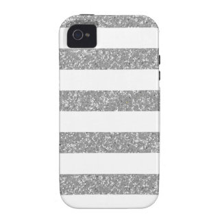Sparkle Glitter Look Stripes iPhone 4 Vibe Case Case-Mate iPhone 4 Cases