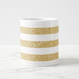 Sparkle Glitter Look Stripes Jumbo Mug
