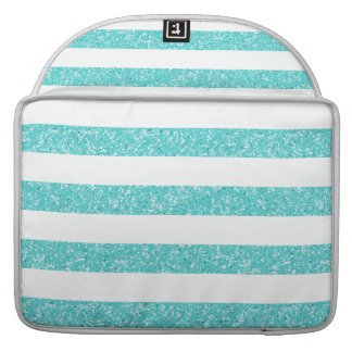 Sparkle Glitter Look Stripes MacBook Pro Sleeve