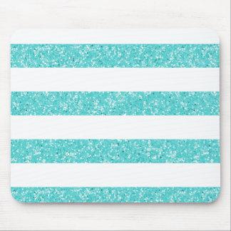 Sparkle Glitter Look Stripes Mousepad