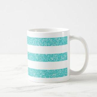 Sparkle Glitter Look Stripes Mug