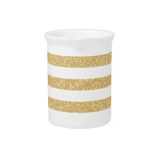Sparkle Glitter Look Stripes Pitcher