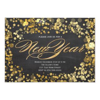 "Sparkle Glitter New Years Invitation 5"" X 7"" Invitation Card"