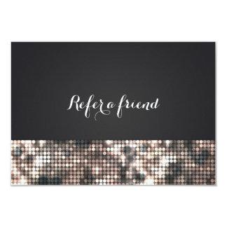 Sparkle Glitter Sequins Glamour Glam Referral Card