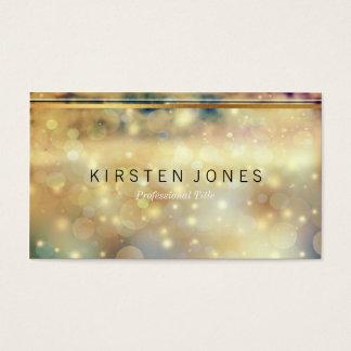 Sparkle Gold and Stripe Detail Elegant Bus Card