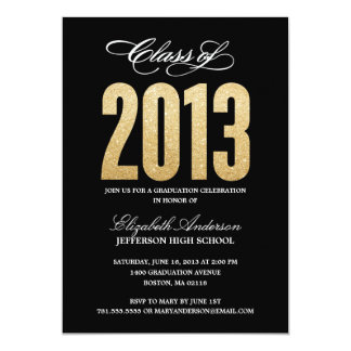 Sparkle Graduation Invitation