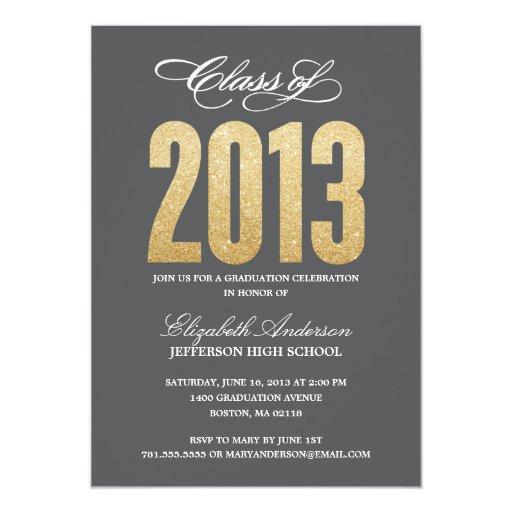 "Sparkle Graduation Invitation 5"" X 7"" Invitation Card"