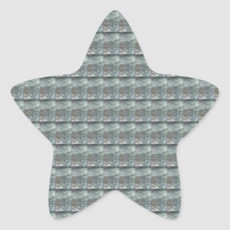 Sparkle GREY Gray Water Green Pattern Graphic Star Stickers