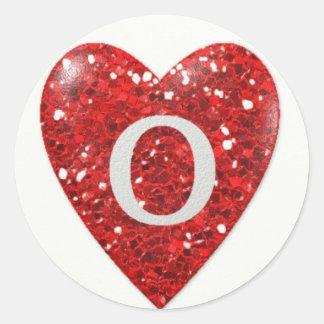 Sparkle Heart O Classic Round Sticker