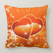 sparkle hearts valentine love throwpillow