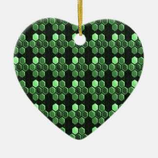 Sparkle Hexagon Emerald Green Pattern NVN289 gifts Christmas Ornament