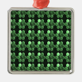 Sparkle Hexagon Emerald Green Pattern NVN289 gifts Christmas Ornaments