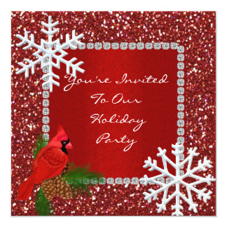 SPARKLE Holiday Invitation with SNOWFLAKES
