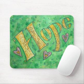 Sparkle Hope Word Art Custom Design Mousepad