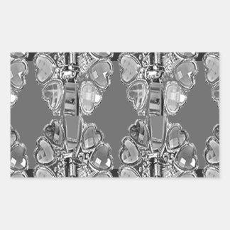 Sparkle Jewel Black n White Art BNW B&w gifts FUN Sticker