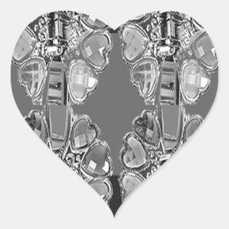 Sparkle Jewel Black n White Art BNW B&w gifts FUN Stickers