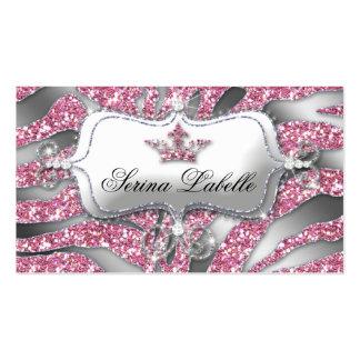 Sparkle Jewelry Business Card Zebra Crown Pink 2