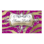 Sparkle Jewelry Business Card Zebra Gold Hot Pink
