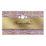 Sparkle Jewelry Business Card Zebra Gold Pink 2