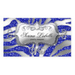 Sparkle Jewelry Business Card Zebra Silver Blue H
