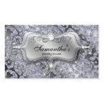 Sparkle Jewelry Business Card Zebra Silver Ice