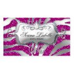 Sparkle Jewelry Business Card Zebra Silver Pink H