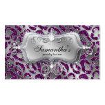 Sparkle Jewelry Business Card Zebra Silver Purple