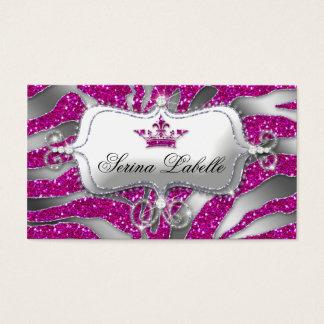 Sparkle Jewelry Zebra Crown Hot Pink 232 Business Card