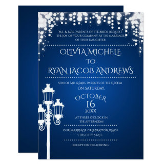 Beautiful Sparkle Lamp Post Gala Wedding Sapphire Card Ideas Gala Invitation Template
