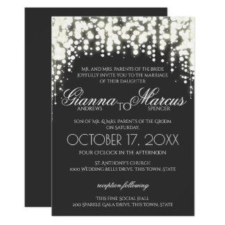 Gala invitations announcements zazzle sparkle lights gala wedding card stopboris Image collections