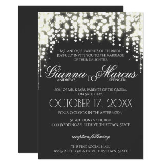 Marvelous Sparkle Lights Gala Wedding Card Intended Gala Invitation Template