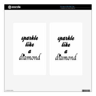 Sparkle Like A Diamond Kindle Fire Decals