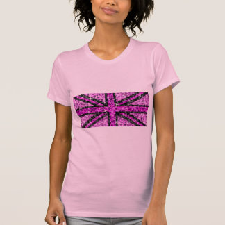 Sparkle Look UK Pink Black ladies petite pink T-Shirt