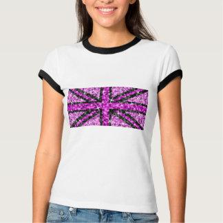 Sparkle Look UK Pink Black ladies ringer T-Shirt