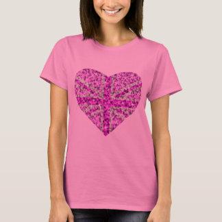 Sparkle Look UK Pink Heart long sleeve pink T-Shirt
