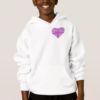 Sparkle Look UK Pink Heart pocket & back kids Hoodie