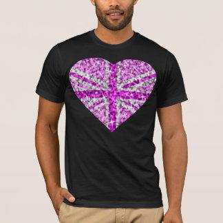 Sparkle Look UK Pink Heart t-shirt black