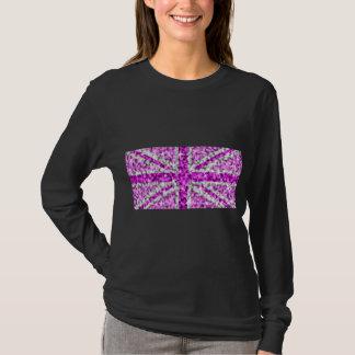 Sparkle Look UK Pink ladies long sleeve black T-Shirt