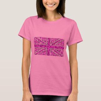 Sparkle Look UK Pink ladies long sleeve pink T-Shirt