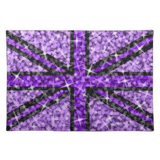 Sparkle Look UK Purple Black placemat