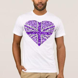 Sparkle Look UK Purple Heart t-shirt white