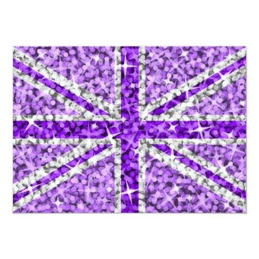 Sparkle Look UK Purple invitation