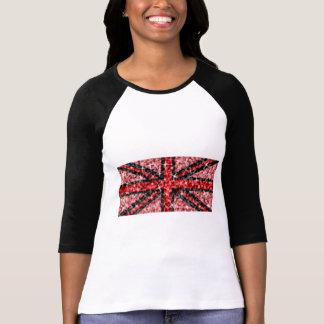 Sparkle Look UK Red Black ladies 3/4 sleeve T-Shirt