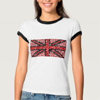 Sparkle Look UK Red Black ladies ringer T-Shirt