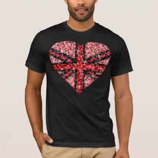 Sparkle Look UK Red Heart Black  t-shirt black