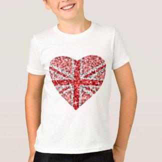 Sparkle Look UK Red Heart kids ringer T-Shirt